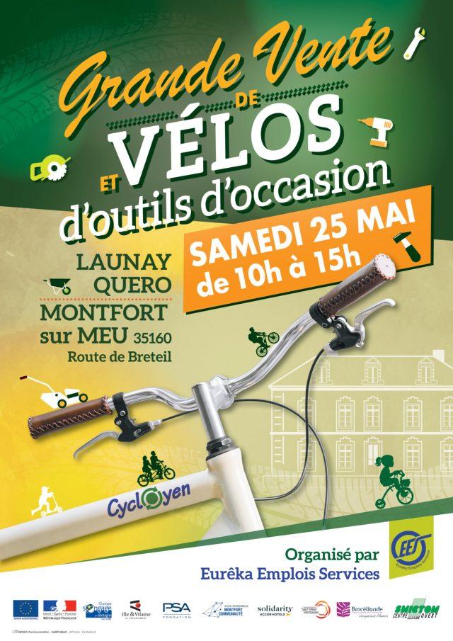 Grande vente de vélos et d'outils d'occasion SAMEDI 25 MAI 2019