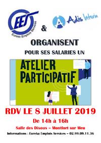 Le 8 Juillet : un Atelier Participatif
