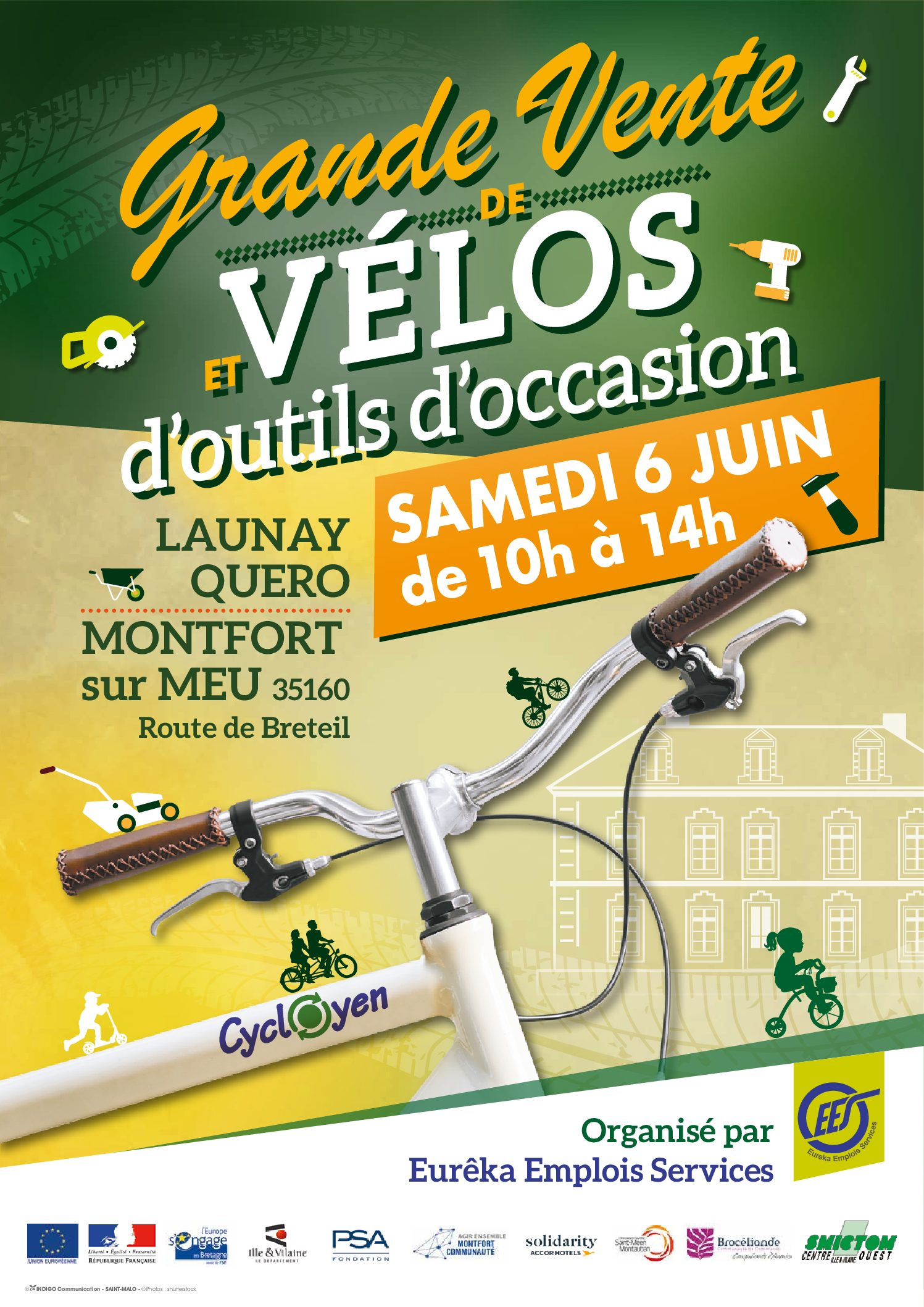 Grande vente de vélos «CYCLOYEN» et d'outils d'occasion